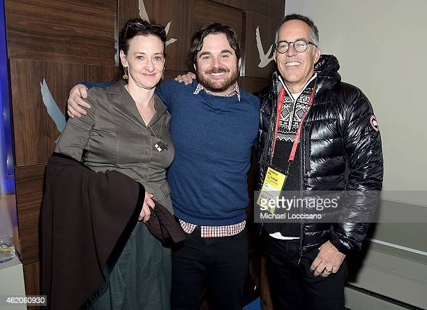 Joan Cusack James Ponsoldt and Sundance Film Festival John Cooper attend GREY GOOSE Blue Door Hosts 'The End of Tour' Party on January 23 2015 in...