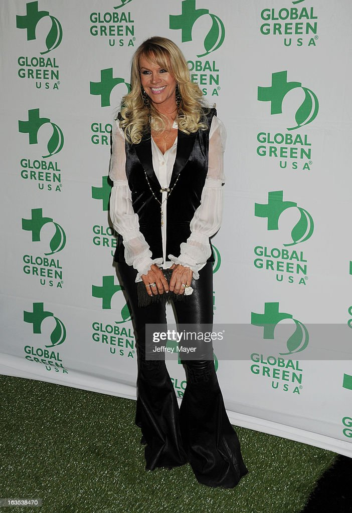 Joan Dangerfield arrives at Global Green USA's 10th Annual PreOscar party at Avalon on February 20 2013 in Hollywood California