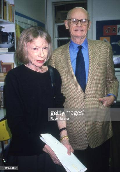 Joan Didion and husband John Gregory Dunne at the Asia Society in New York city 1995