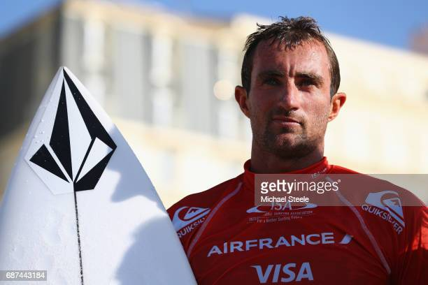 Joan Duru of France after competing in the Men's Main Event Round One Heat 39 during day four of the ISA World Surfing Games 2017 at Grande Plage on...