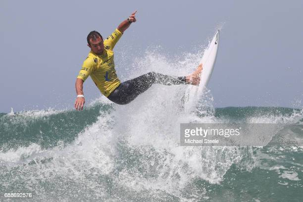 Joan Duru of France competes in the Men's Qualifying Round 2 during day seven of the ISA World Surfing Games 2017 at Grande Plage on May 26 2017 in...