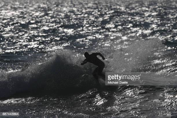Joan Duru of France competing in the Men's Main Event Round One Heat 39 during day four of the ISA World Surfing Games 2017 at Grande Plage on May 23...