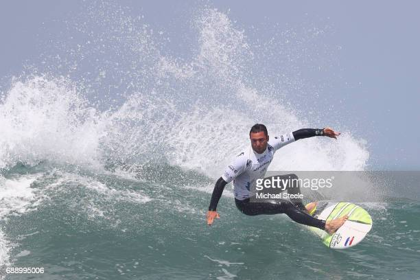 Joan Duru of France during the Men's Qualifying Round 4 event on day eight of the ISA World Surfing Games 2017 at Grande Plage on May 27 2017 in...