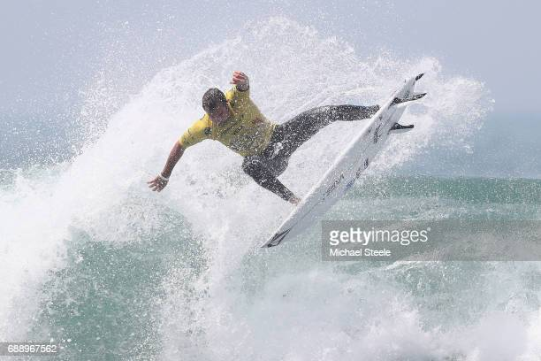 Joan Duru of France during the Men's QuarterFinal on day eight of the ISA World Surfing Games 2017 at Grande Plage on May 27 2017 in Biarritz France