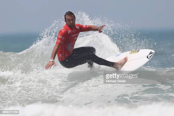 Joan Duru of France in action during the Men's Round 4 on day eight of the ISA World Surfing Games 2017 at Grande Plage on May 27 2017 in Biarritz...