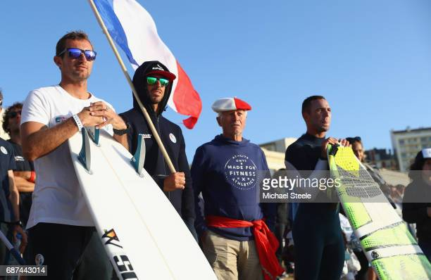 Joan Duru of France looks on during the Men's Main Round Heats on day four of the ISA World Surfing Games 2017 at Grande Plage on May 23 2017 in...