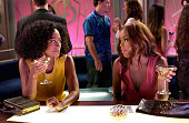 Joan enjoys a drink with Maya as they discuss Joan's predicament with William in GIRLFRIENDS on The CW