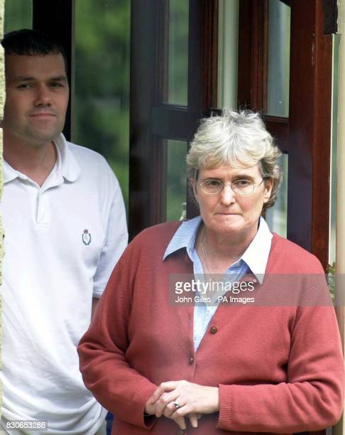 Joan Falconio the mother of Peter Falconio who is missing in Australia with her son Nicholas at their home near Huddersfield West Yorkshire Family...