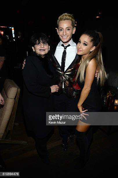 Joan Grande Frankie J Grande and Ariana Grande attend the Republic Records Grammy celebration at Hyde on Sunset on February 15 2016 in Los Angeles...