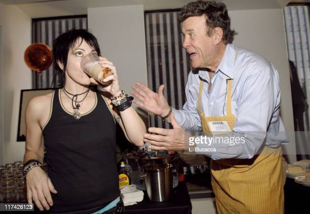 Joan Jett and Cousin Brucie during The 39th Annual CMA Awards Luncheon at Sirius Satellite Radio at Sirius Satellite Radio Offices in New York City...