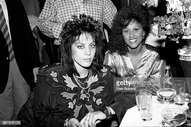 Joan Jett and Darlene Love at the 1985 MTV Video Awards after party at the Palladium in New York City on September 13 1985
