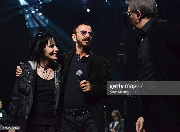 Joan Jett and Ringo Starr attend the 30th Annual Rock And Roll Hall Of Fame Induction Ceremony at Public Hall on April 18 2015 in Cleveland Ohio