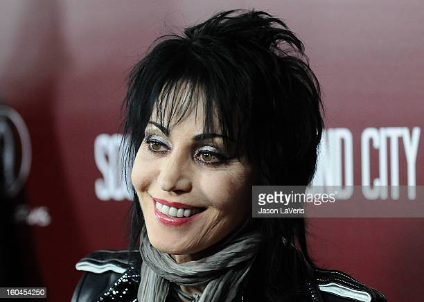 Joan Jett attends the premiere of 'Sound City' at ArcLight Cinemas Cinerama Dome on January 31 2013 in Hollywood California