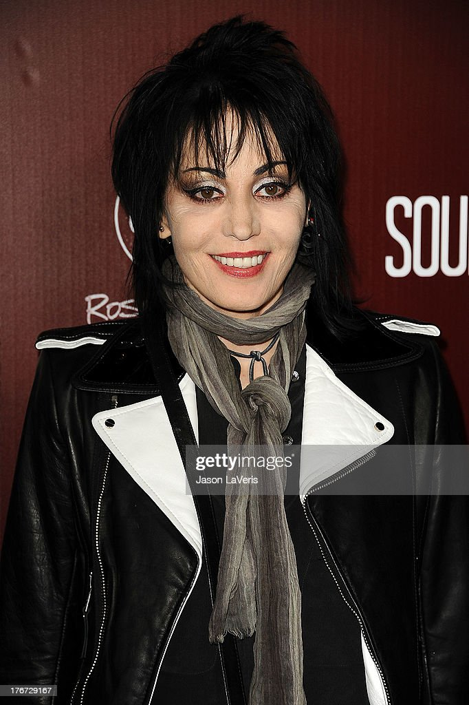<a gi-track='captionPersonalityLinkClicked' href=/galleries/search?phrase=Joan+Jett&family=editorial&specificpeople=213317 ng-click='$event.stopPropagation()'>Joan Jett</a> attends the premiere of 'Sound City' at ArcLight Cinemas Cinerama Dome on January 31, 2013 in Hollywood, California.