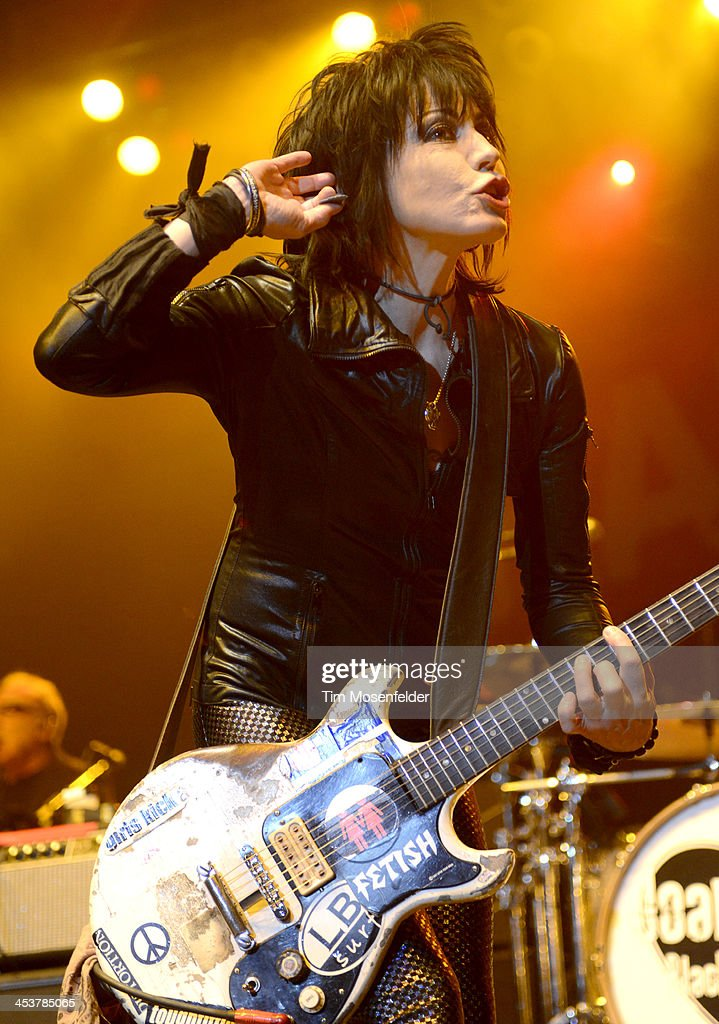 Joan Jett of Joan Jett and the Blackhearts performs as part of Radio 94.7's Electric Christmas at Sleep Train Arena on December 4, 2013 in Sacramento, California.