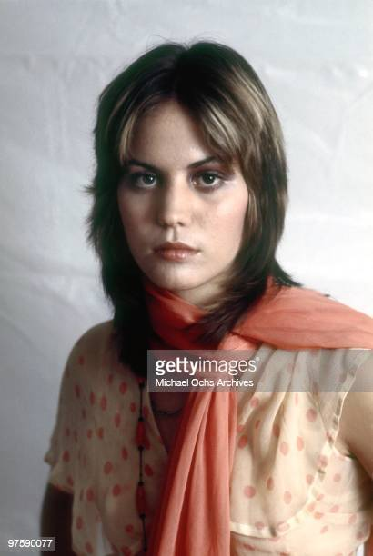 Joan Jett of the original lineup of the rock band 'The Runaways' poses for a portrait in Los Angeles in September 1975