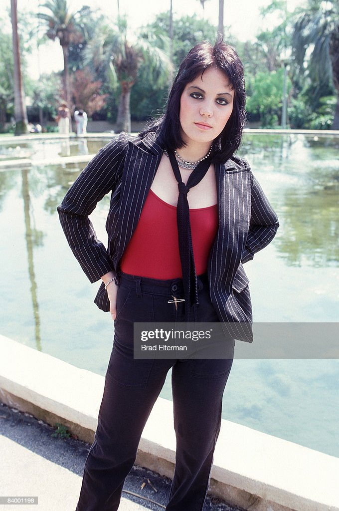 Joan Jett of The Runaways at a photo session in Los Angeles, California.**EXCLUSIVE**