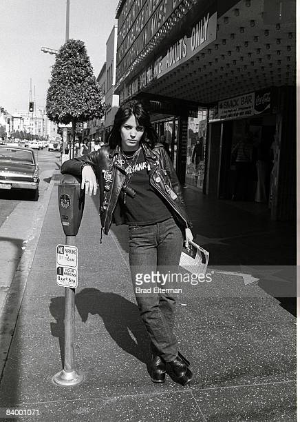 Joan Jett of The Runaways on Hollywood Blvd in Los Angeles California **EXCLUSIVE**