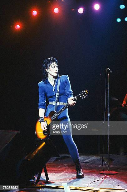 Joan Jett performing live at Hammersmith Odeon London