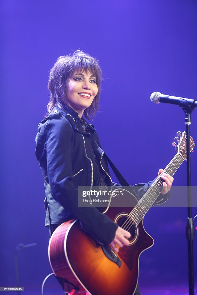 Joan Jett performs onstage during the USO 75th Anniversary Armed Forces Gala & Gold Medal Dinner at Marriott Marquis Times Square on December 13, 2016 in New York City.