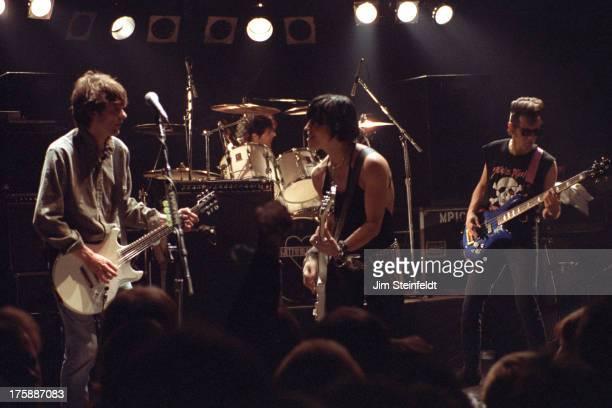 Joan Jett with Paul Westerberg perform at Glam Slam nightclub in Minneapolis Minnesota on January 27 1992