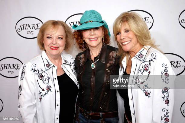 Joan Kardashian Glorya Kaufman and Anita Mann Kohl pose for a photo before the 64th Annual Boomtown 2017 Gala 'Let's Dance' at The Beverly Hilton...
