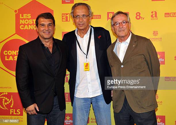 Joan Laporta and Xavier Trias attend a charity concert against AIDS at Palau Sant Jordi on June 8 2012 in Barcelona Spain