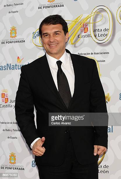 Joan Laporta attends 7th 'Microfonos de Oro' Awards at the Toralin Stadium on May 9 2009 in Ponferrada Spain