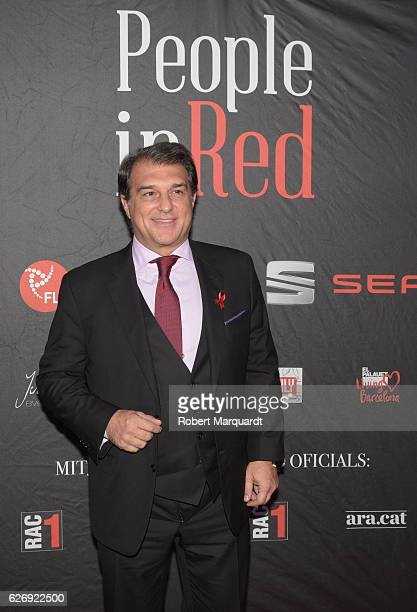 Joan Laporta attends a photocall for the People in Red charity event held at the El Palauet on November 30 2016 in Barcelona Spain
