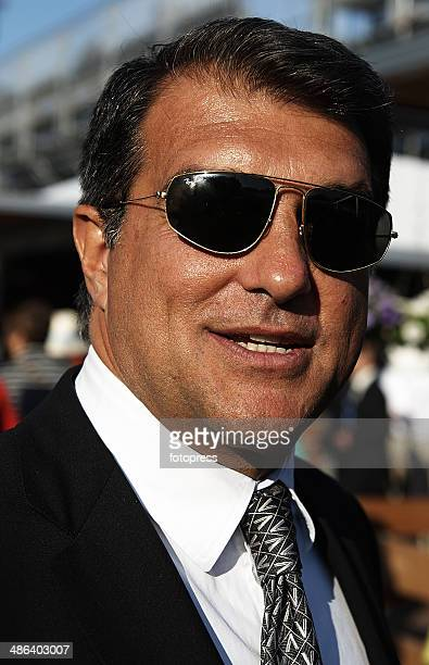 Joan Laporta attends day three of the ATP Barcelona Open Banc Sabadell at the Real Club de Tenis Barcelona on April 23 2014 in Barcelona Spain