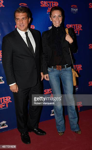 Joan Laporta attends the premiere of 'Sister Act' at the Theater Tivoli on October 23 2014 in Barcelona Spain