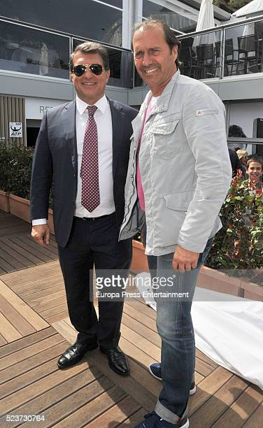 Joan Laporta is seen attending Tennis Barcelona Open Banc Sabadell on April 20 2016 in Barcelona Spain
