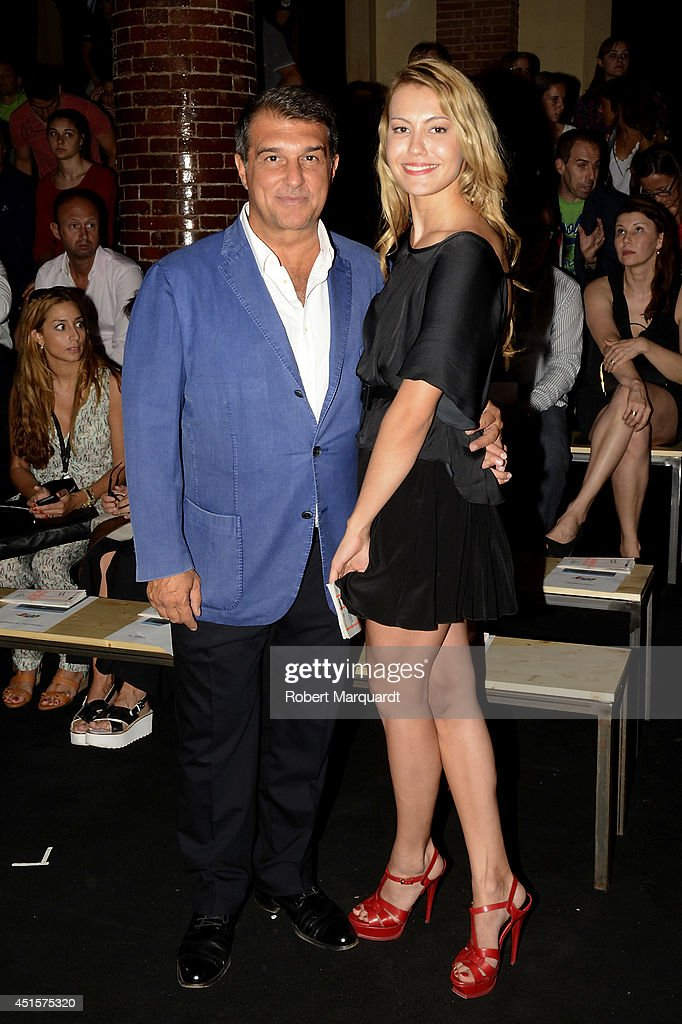 <a gi-track='captionPersonalityLinkClicked' href=/galleries/search?phrase=Joan+Laporta&family=editorial&specificpeople=552449 ng-click='$event.stopPropagation()'>Joan Laporta</a> (L) is seen during the '080 Barcelona Fashion Week' on July 1, 2014 in Barcelona, Spain.