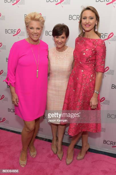 Joan London Myra Biblowit President CEO BCRF Kinga Lampert BCRF CoChair arrives at the Breast Cancer Research Foundation New York Symposium and...