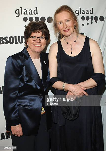 Joan M Garry GLAAD Executive Director and Frances Conroy