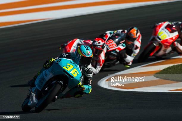 Joan Mir Leopard Racing Honda during the race day of the Gran Premio Motul de la Comunitat Valenciana Circuit of Ricardo TormoValencia Spain Sunday...