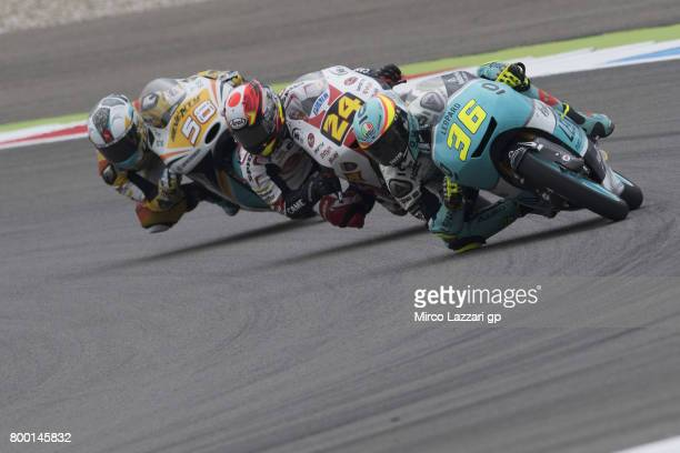 Joan Mir of Spain and Leopard Racing leads the field during the MotoGP Netherlands Free Practice on June 23 2017 in Assen Netherlands