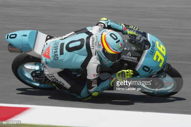 Joan Mir of Spain and Leopard Racing rounds the bend during the MotoGp of Italy Free Practice at Mugello Circuit on June 2 2017 in Scarperia Italy