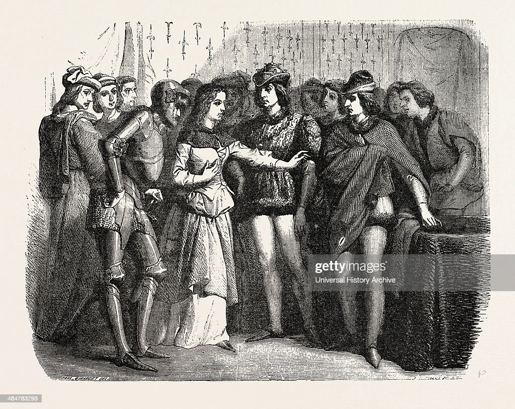 Joan Of Arc Jeanne D'arc At Chinon Castle France Engraving 1855