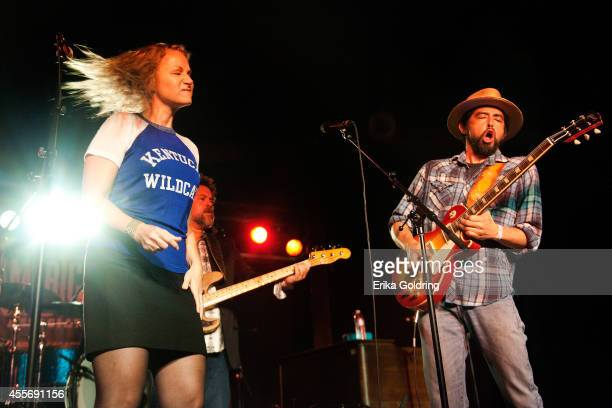 Joan Osborne and Jackie Greene of Trigger Hippy perform at The Cannery Ballroom on September 18 2014 in Nashville Tennessee