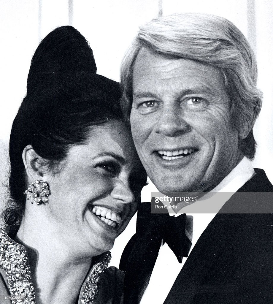 Joan Pflug and <a gi-track='captionPersonalityLinkClicked' href=/galleries/search?phrase=Peter+Graves&family=editorial&specificpeople=92327 ng-click='$event.stopPropagation()'>Peter Graves</a> during 29th Annual Golden Globe Awards at Hilton Hotel in Beverly Hills, California, United States.