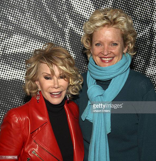 Joan Rivers and Christine Ebersole during 'Alter Boyz' Broadway Opening Night at Dodger Stages in New York City New York United States