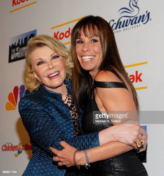 Joan Rivers and Melissa Rivers attend the 'Celebrity Apprectice' finale party at the American Museum of Natural History on May 10 2009 in New York...