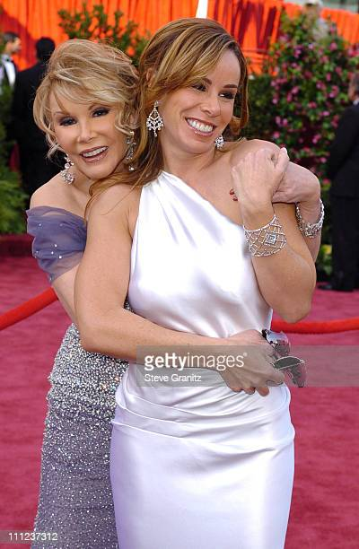 Joan Rivers and Melissa Rivers during The 77th Annual Academy Awards Arrivals at Kodak Theatre in Hollywood California United States