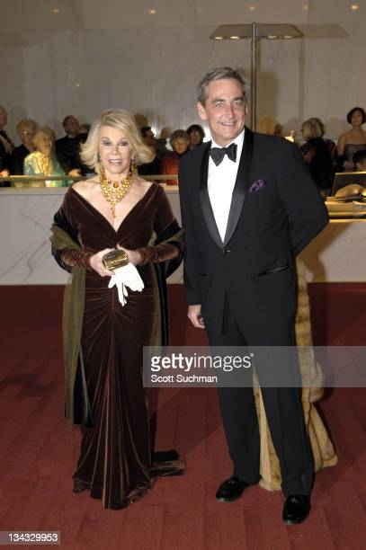 Joan Rivers and Robert Higdon during 2005 Kennedy Center Honors at Kennedy Center Opera House in Washington DC United States