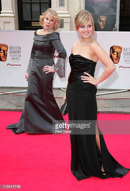 Joan Rivers and Tina O'Brien during 2007 British Academy Television Awards Red Carpet Arrivals at London Palladium in London Great Britain
