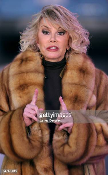 Joan Rivers at the Times Square in New York City New York