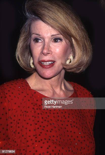 Joan Rivers attends a Christie's auction New York 1990
