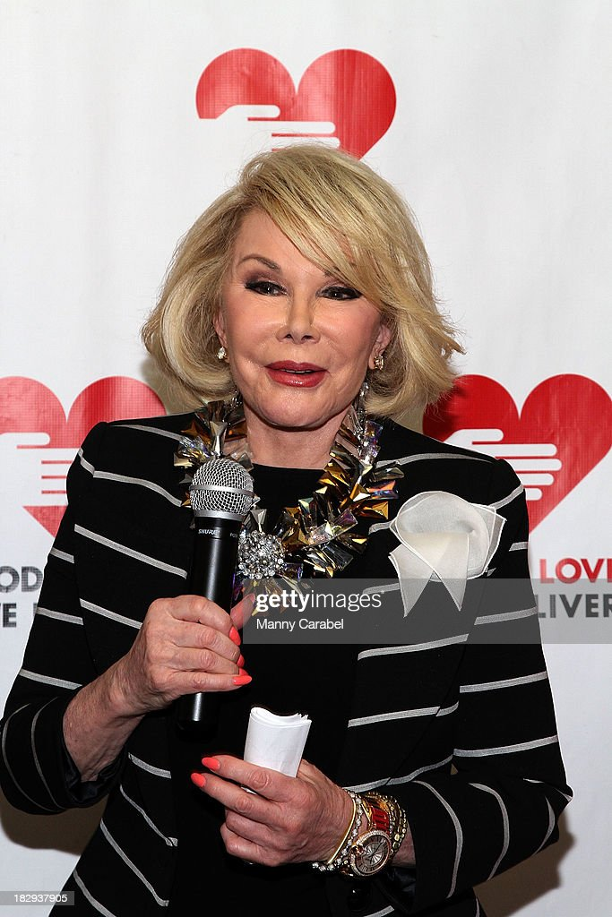 <a gi-track='captionPersonalityLinkClicked' href=/galleries/search?phrase=Joan+Rivers&family=editorial&specificpeople=159403 ng-click='$event.stopPropagation()'>Joan Rivers</a> attends the launch of the God's Love We Deliver Expansion Project on October 2, 2013 in New York City.