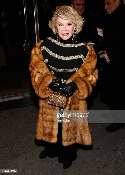 Joan Rivers attends the opening night of 'Hedda Gabler' on Broadway at the American Airlines Theatre on January 25 2009 in New York City